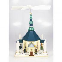 Pyramiden - Seiffener Kirche bunt