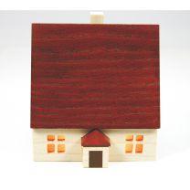 Haus 7 cm - für Innenbeleuchtung  natur