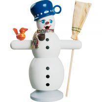 Räucherfigur - Schneemann mit blauem Topf
