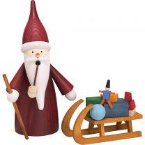 Räucherfigur - Weihnachtswichtel mit Schlitten