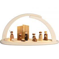 Bogen doppelt mit LED-Beleuchtung Christi Geburt mit USB-Stecker Breite: 41 cm