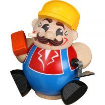 Kugelräucherfigur - Bauarbeiter
