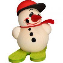 Cool Man klein mit Ski & Base-Cap, Höhe: 9 cm