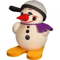 Cool Man klein mit Ski & Pfanne, Höhe: 9 cm