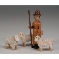 Schäfer mit Schafe