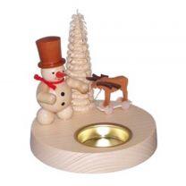 Teelichthalter - Schneemann mit Elch