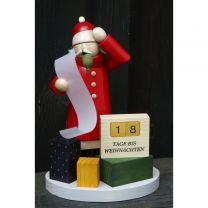 Räuchermann - Weihnachtsmann mit Kalender