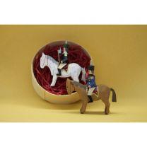 Sammlerspandose - Berghauptmann auf weißen Pferd